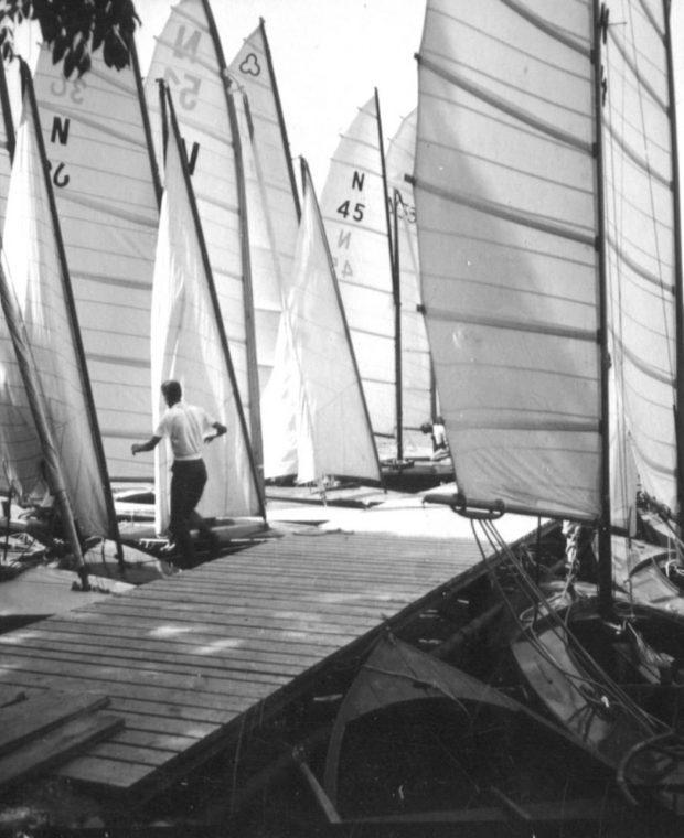 Jetty with sailing yachts - history - Sunbeam yachts