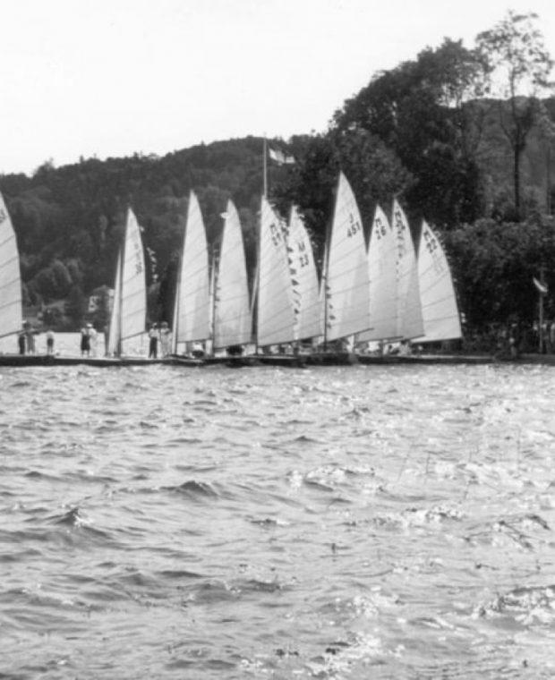 Sailing yachts on the lake | History regatta