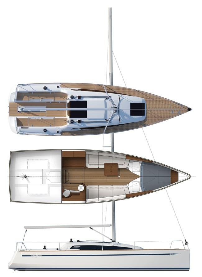 Deckplan von Sunbeam 28.1