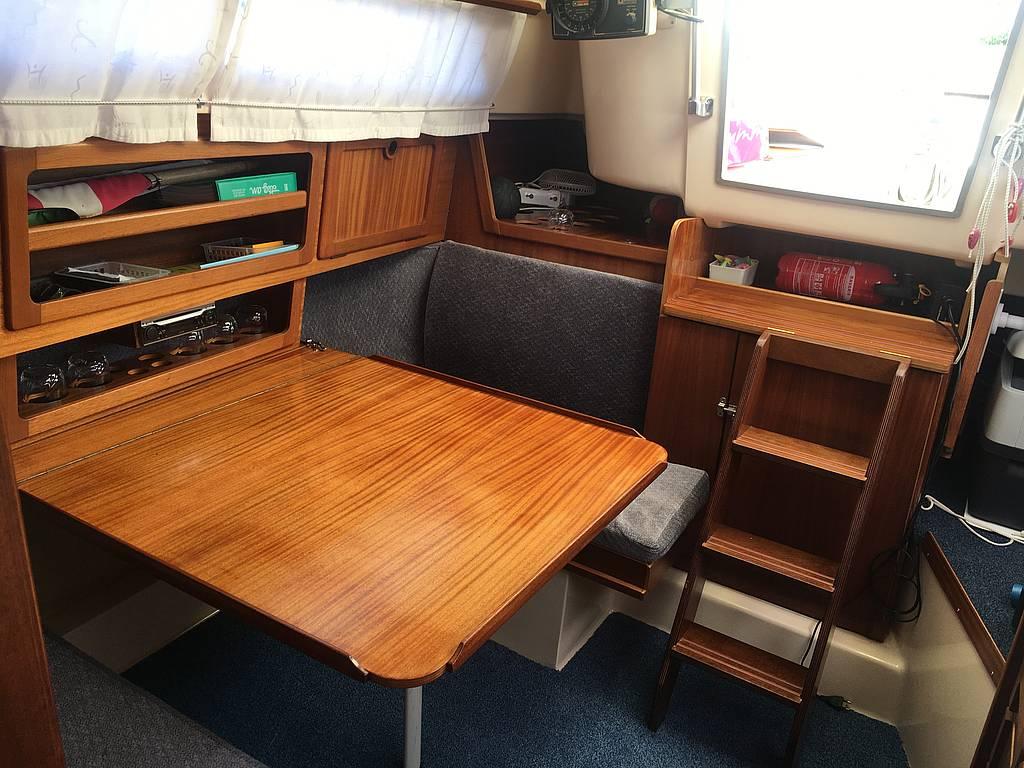Sitzecke Segelboot