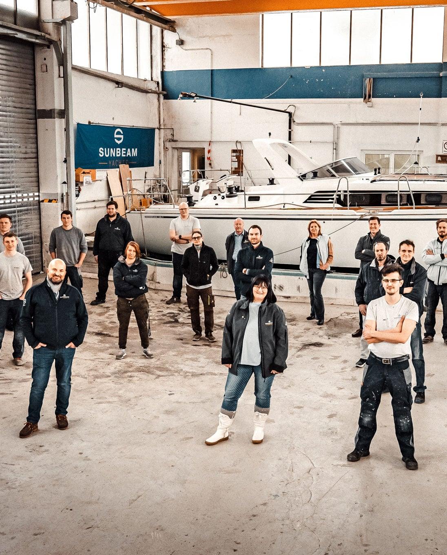 Team Sunbeam Yacht in der Werft